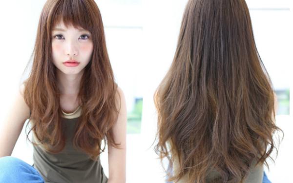 流行 长发