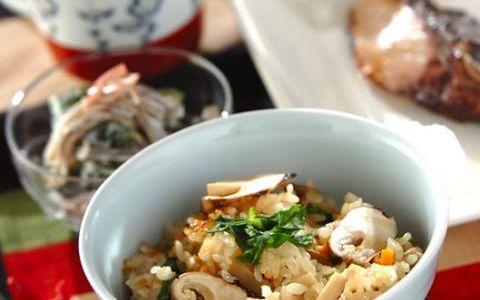 今日の献立は「秋の味覚!松茸ご飯」