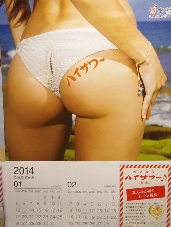 「形が最高!」、2014年1~2月のお尻。