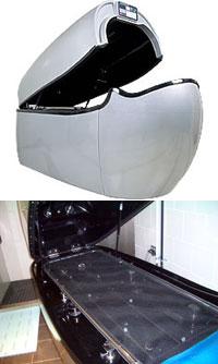 (上)これが人間洗濯機(下)あけるとこんな感じ