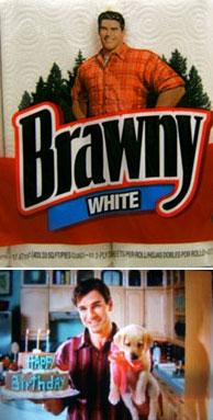 ブローニーのキッチンペーパーとテレビコマーシャルの一コマ