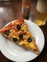 生とうもろこしのピザ