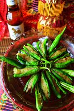 アンチョビポテト詰め タイ風味のししとう焼き