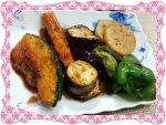 焼き野菜のバルサミコ酢和え