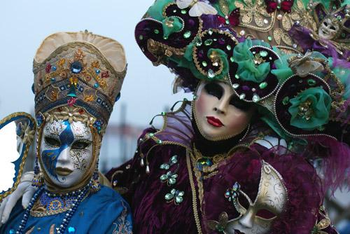 カーニバル期間の滞在では多くの美しい仮装の方々にうっきゃー!と興奮したけ... ヴェニスのカーニ