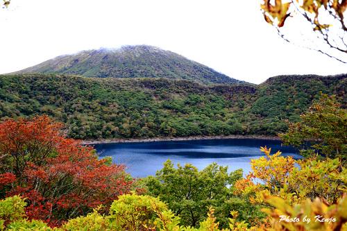 紅葉早かった大浪池。