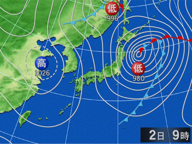 明日の天気図