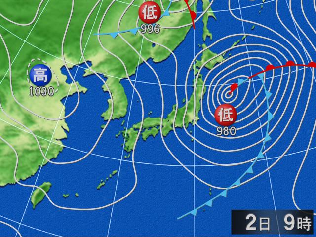 明後日の天気図