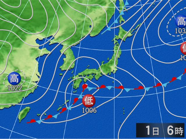 実況天気図