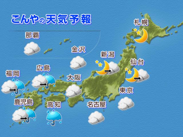 こんやの天気予報