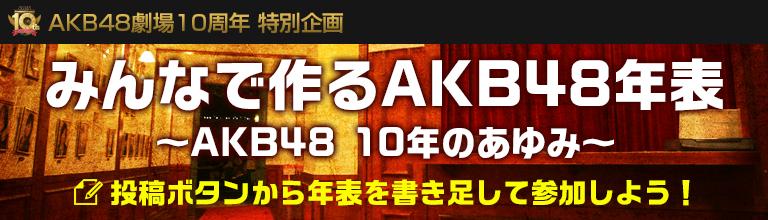 AKB48劇場10周年特別企画 みんなで作るAKB48年表