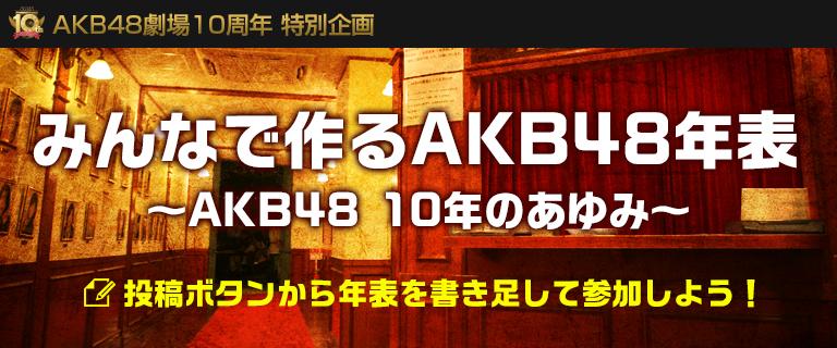 AKB48劇場10周年特別企画 みんなで作るAKB48年表\\\