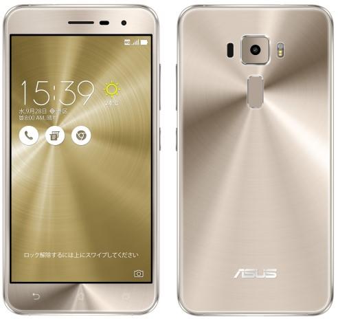 ZenFone 3 クリスタルゴールド