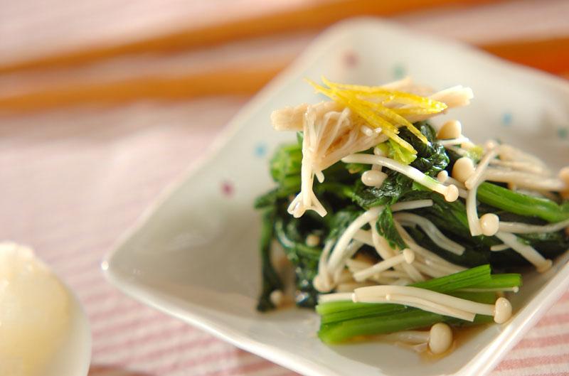 献立 調理時間 15分 24 Kcal レシピ制作:  杉本 亜希子  青菜のお浸し【E・レシピ
