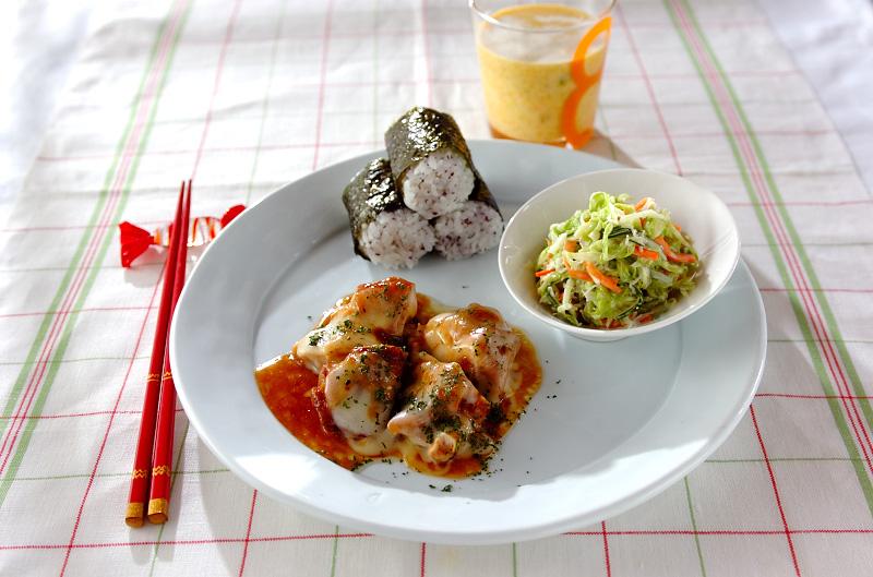チキンのレンジ照り焼きランチ【E・レシピ】料理のプロが作る ...
