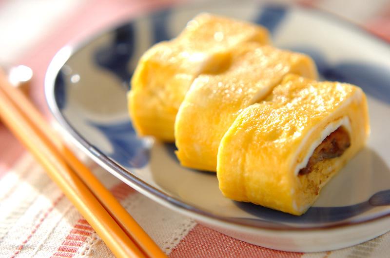 サンマ缶入り卵焼き 献立 調理時間 15分 235 Kcal  サンマ缶入り卵焼き【E・レシピ】