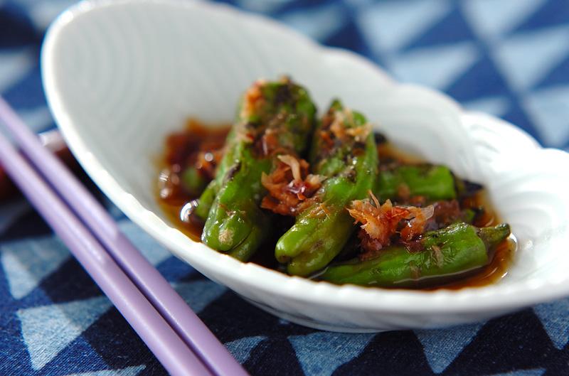 献立 調理時間 10分 26 Kcal  焼きシシトウのお浸し【E・レシピ】料理のプロが作る簡単
