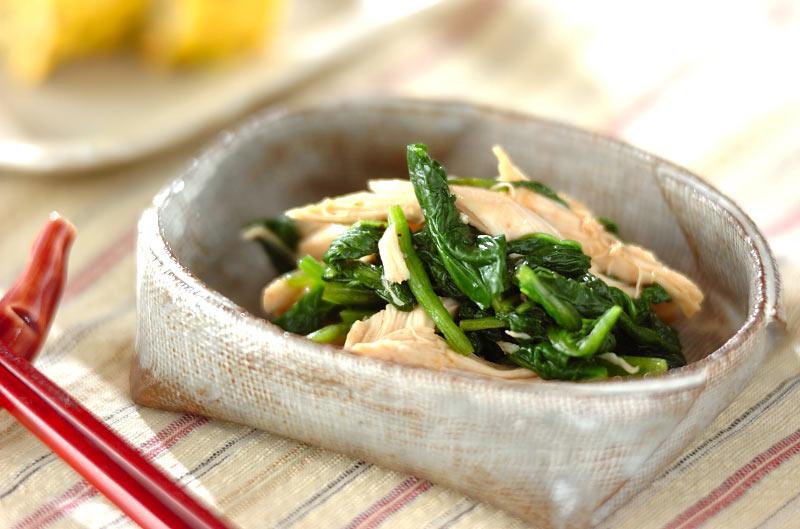 献立 調理時間 10分 71 Kcal  ささ身のお浸し【E・レシピ】料理のプロが作る簡単レシピ