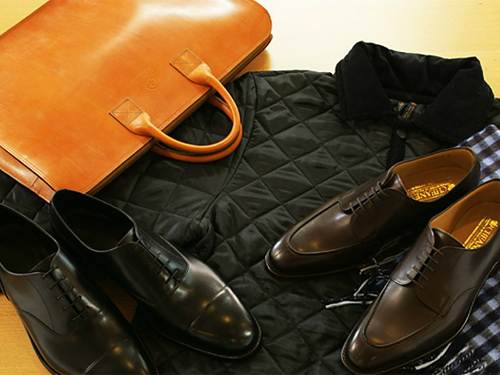 男のポリシー、靴と鞄。