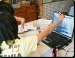 テレビ電話でオンライン学習塾
