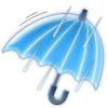 雨で暴風を伴う