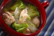 鶏とブロッコリーのスープ
