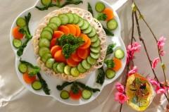 野菜のケーキ寿司