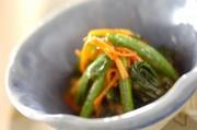 小松菜とニンジンのゴマ和え