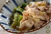 豚肉と小松菜のだし煮
