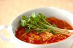 トマト入り中華スープ