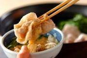 豚肉と水菜のトロロポン酢鍋