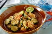 ズッキーニとエビの薬味サラダ