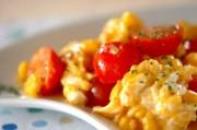 プチトマトと卵の炒め物