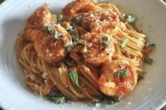 エビのトマトソーススパゲティー