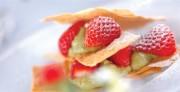 イチゴと抹茶のミルフィーユ