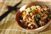 ヒジキと豆の炊き込みご飯