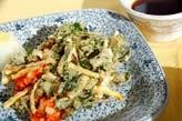 エビと菊菜のかき揚げ