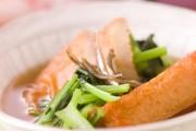 ごぼ天と青菜の煮物