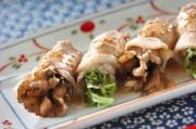 蒸し豚の野菜巻き