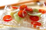 刺身コンニャクのカルパッチョ風サラダ