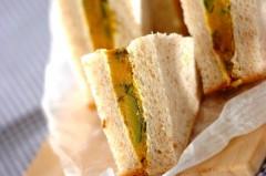 カボチャのいとこ煮サンドイッチ