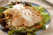 鶏チャーシューのごちそうサラダ