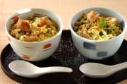小松菜と麩の卵とじ丼
