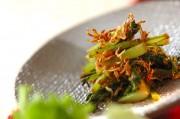 カブの葉とチリメンジャコの炒め物