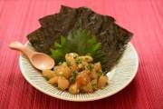 ホタテのピリ辛韓国風 焼き海苔添え