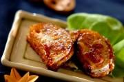 レンコンの豆腐はさみ焼き