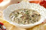 キノココーンチャウダーのスープご飯