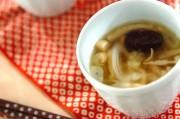 ネギの葛スープ