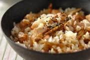 鶏肉とゴボウの混ぜご飯