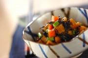 ヒジキと揚げ高野豆腐の煮物